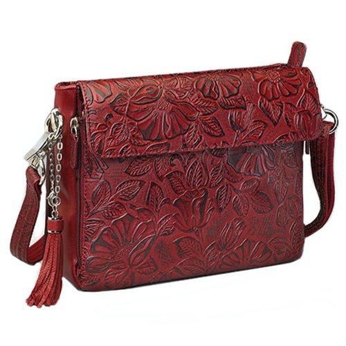 Gun Tote'n Mamas Tooled Cowhide Handbag