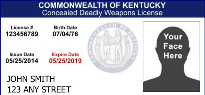 kentucky concealed carry permit