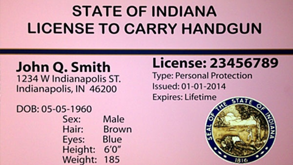 INDIANA CONCEALED CARRY PERMIT